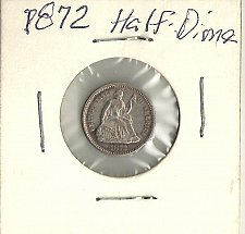 Buy 1872 P Seated Liberty Half Dime Type 4 Nice
