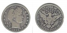 Buy A  very desirable 1898 Barber Quarter from an old old series!