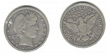 Buy A  very desirable 1907-O Barber Quarter from an old old series!