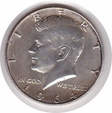Buy 1964-D Kennedt Half Dollar 50c (n122)
