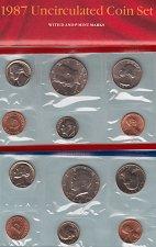 Buy U.S. Uncirculated Coin Set  1987 D & P  /   WM-11