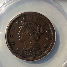 Buy 1854 braided hair large cent