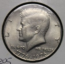 1776 1976 P+D Kennedy Half Dollar Set from Original 1976 Mint Set in Mint Cello