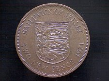 Buy 1971 BAILIWICK OF JERSEY TWO NEW PENCE