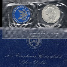 Buy 1971 s   Eisenhower  Peace Silver Dollar    /    WM-31
