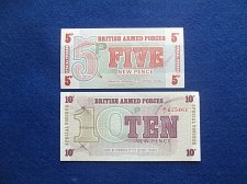 Buy BRITISH MILITARY NOTE 2 PIECE LOT WORLD PAPER MONEY UNCIRCULATED CONDITION !