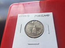 2000 D Maryland State Quarter Coin Value Prices, Photos & Info