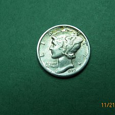 Buy 1927 P Mercury Dime Almost Uncirculated Coin   j34