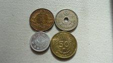Buy JAPAN  1924 SEN, 1937 10 SEN, 1939 SEN and 1946 50 SEN
