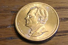 Nixon Presidential Dollar coin 2016-P $1 Richard M Uncirculated From mint bag