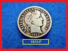 Buy 1913-P   BARBER DIME ☆  CIRCULATED ☆    (#3502)a