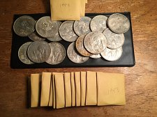 Buy 1953 Mexico Five Dollar Peso (39) pieces /currently less than melt!