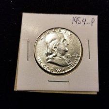 Buy 1954 Silver Franklin Half Dollar