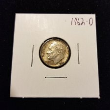 Buy 1962 D Silver Roosevelt Dime Toned