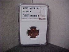 Buy 1970S Large Date 1C NGC MS64 RD #007