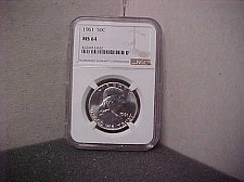 Buy 1961 50C NGC MS64 Ben Franklin  #022