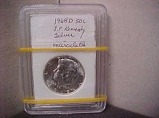 Buy 1968D 50C Silver MS J.F. Kennedy Uncirculated