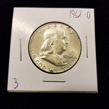 Buy 1962 D Silver Franklin Half Dollar 003