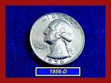 Buy 1956-D   Washington Quarter  ✬  UNCIRCULATED  ✬(#2619)a