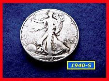 "Buy 1940-S  Liberty Walking Half  ★ ""Fine"" Condition  (#1672)a"