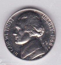 Buy 1968 S Jefferson Nickel  PROOF