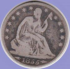 Buy 1855 O   Seated Liberty Half
