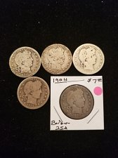 Buy 5 Silver Barber Quarters
