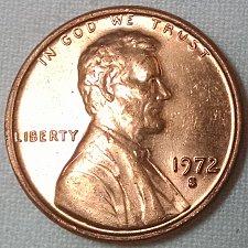 1972 S Lincoln Memorial Penny Coin Value Prices, Photos & Info