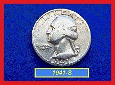 Buy 1941-S  Washington  Quarter • Circulated • 90% Silver  (#2829)