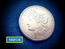 """Buy 1921-S Morgan Silver Dollar  ☆  """"AU-58""""   ☆ (#5415)a"""
