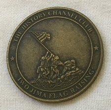 Buy USMC Iwo Jima Flag Raising - The History Channel Club Bronze Medallion