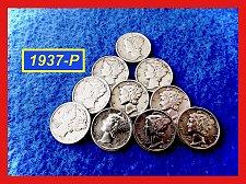 """Buy 1937-P Roosevelt Dimes  ☆  """"XF-AU""""  ☆   (#3714)a"""