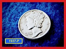 """Buy 1937-P Roosevelt Dime  ✬  """"XF35 Condition   ✬   (#3715)a"""