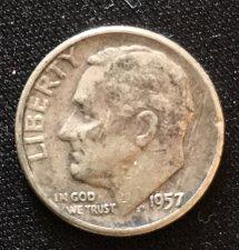 Buy 1957 Dime Circulated