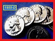 """Buy FLASHY 1955-D  Quarter ☆ GEM """"BU"""" """"MS-64"""" ☆ (#2735.5)a"""