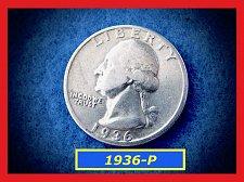 "Buy 1936-P Washington Quarter ★ ""F-20"" ––  (#2827)a"