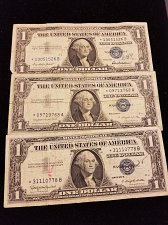 Buy Lot of 3 Silver Certificate Star Notes 1957, 1957A, 1957B