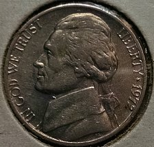 1972 P//D Jefferson Nickel SET IN MINT CELLO