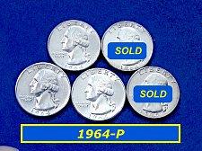 Buy 1964-P   'BU' Quarter  ☆BRILLIANT UNCIRCULATED ☆ (#2552)a