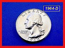 """Buy 1964-D Washington ☆ GEM """"BU"""" AT LEAST 'MS-65' ☆ (##2741)a"""