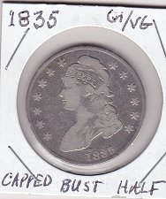 Capped Bust Half Dollars Us Coin Prices And Values
