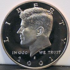 Buy 2001-S Deep Cameo Clad Proof Kennedy Half Dollar