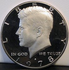 Buy 1978-S Deep Cameo Clad Proof Kennedy Half Dollar