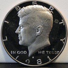Buy 1981-S Deep Cameo Clad Proof Kennedy Half Dollar (#4)