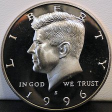 Buy 1996-S Deep Cameo Clad Proof Kennedy Half Dollar