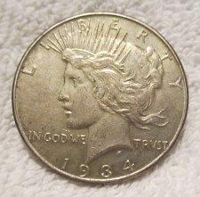 peace silver dollar semikey date