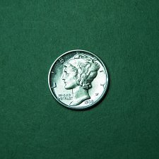 Buy 1938 D Split Band Mercury Dime AU-BU Coin Slanted D Variety   n64