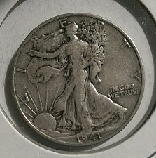 Buy 1- 1941-S WALKING LIBERTY HALF DOLLAR. CIRCULATED. 1941-S-1