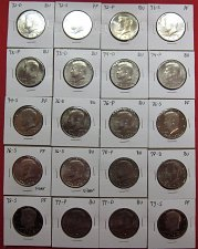 Buy 1972-1978-P+D+S+S+S  Kennedy Half Dollar Collection BU-PF & 40% Silver