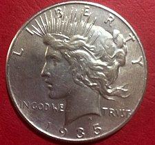 Buy 1935-P Silver Peace Dollar AU Details
